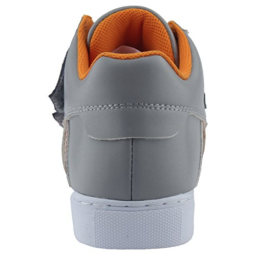 MINIRAH! Boys Girls Casual Slip On Fashion Sneaker Comfort Skate Shoe Grau