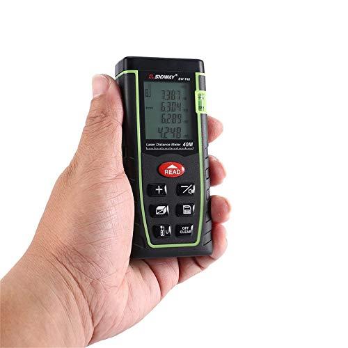 AWIS Telemetro Laser Portatile,Righello a Infrarossi,Misurare Distanza,Area,Volume,Impermeabile, Antipolvere,Anti-Caduta,40M
