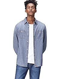 find. Camicia in Chambray Regular Fit Uomo