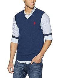 US Polo Men's Wool Sweater (8907378317742_USSW0638_Large_Daphne Melange)