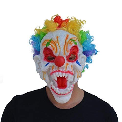 (BESTOYARD Clown Maske mit Perücke Schreckliche Maske für Kinder Erwachsene Party Kostüm Cosplay Requisiten (Random Pattern))