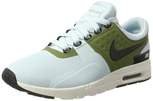 Nike Damen WMNS Air Max Zero Sneakers, Türkis (Glacier Blue/Black/Ivory/Palm Green), 38.5 EU