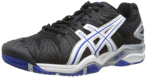 ASICS Gel-Resolution 5 Scarpe Sportive - Tennis Uomo, Nero (Schwarz (Black/White/Blue 9001)) 45 EU