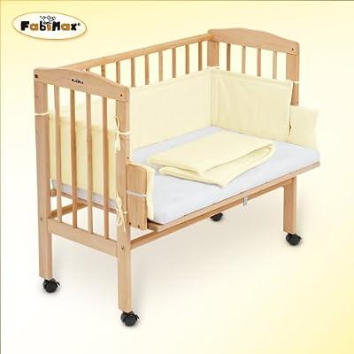 FabiMax Beistellbett BabyMax classic mit Matratze und Nestchen Amelie, 4 Farben zur Auswahl