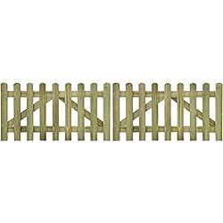 vidaXL valla de madera impregnada para cerca 2 uds 300 x 80