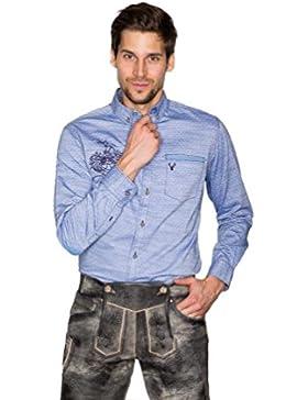 Michaelax-Fashion-Trade Krüger - Herren Trachtenhemd in Blau, Rudi (94109-81)