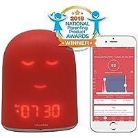UrbanHello REMI – Babyphone Audio avec alertes de Bruit 5-en-1 - Réveil Enfant Jour Nuit éducatif, Sleep Trainer - Suivi du Sommeil - Veilleuse - Enceinte Bluetooth - Rose