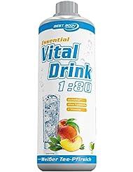 Best Body Nutrition Essential Vital Drink Weißer Tee-Pfirsich, 1er Pack (1 x 1 l)