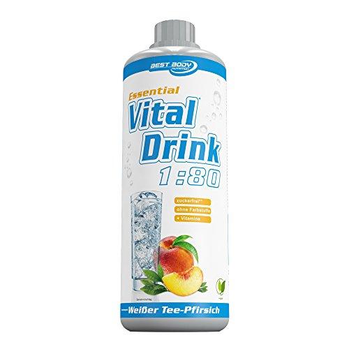 Best Body Nutrition Essential Vital Drink (Weißer Tee-Pfirsich) 1er Pack (1 x 1 liter)