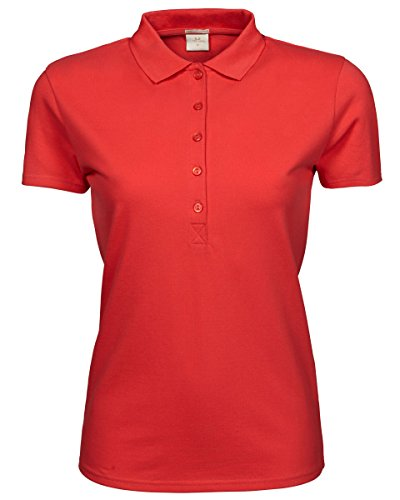 Tee Jays Ladies Luxury stretch polo Coral