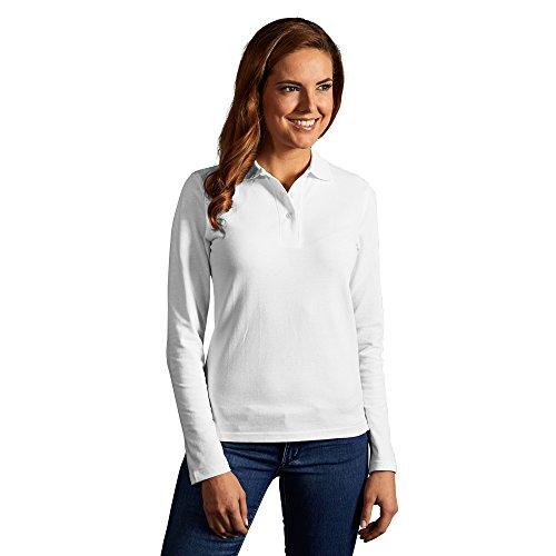 Promodoro Heavy Langarm-Poloshirt Damen, M, Weiß
