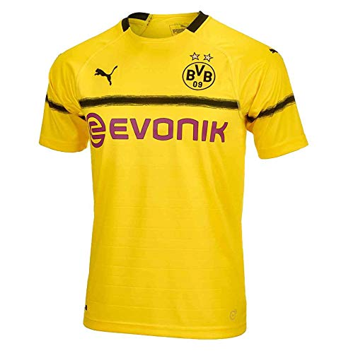 Puma Herren BVB Cup Shirt Replica with Evonik Logo Without OPEL Trikot, Cyber Yellow, M