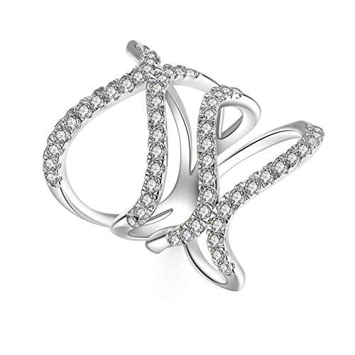 Daesar anelli in argento sterling anello donna anelli con anelli con anelli impilabili anelli zirconia cubica anello donna taglia 12