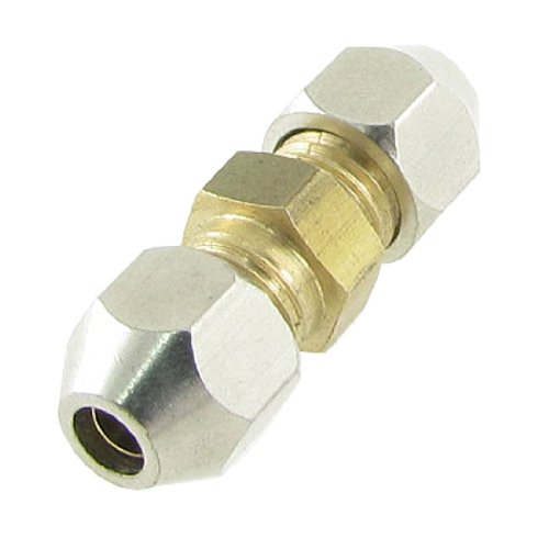 Sourcingmap a11120900ux0691 - 4 millimetri in ottone tubo di metallo aria pneumatica accoppiatore compressione connettore appropriato