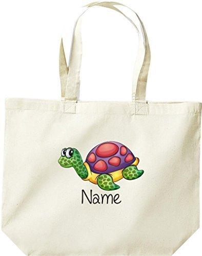 Grande Shopping Bag, Con Simpatici Motivi, Inclusa La Sua Tartaruga Invernale, La Natura