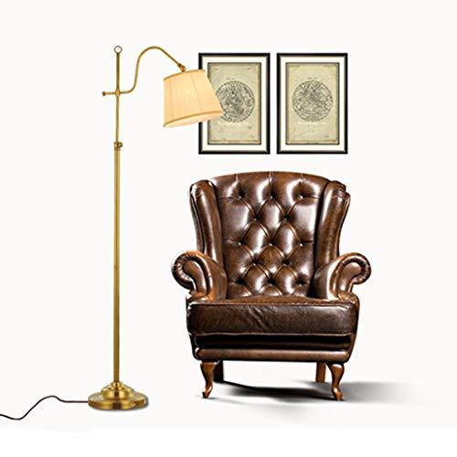 Baldachin Höhenverstellbare Leuchte (Xiao Yun ☞ Stehleuchte, Schlafzimmer im amerikanischen Stil einfache Wohnzimmer Studie höhenverstellbar Angeln Lampe Bronze kreative ☜)