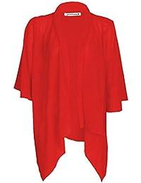 Janisramone Les femmes plaine kimono de mousseline cascade ouverte gilet haussement Retour au début UK 8 - 22