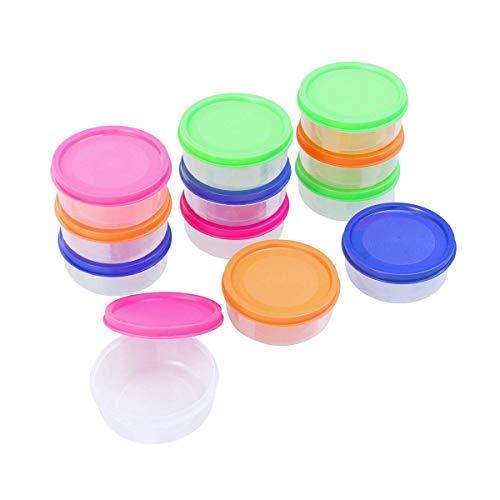 healifty Contenitori di Stoccaggio degli alimenti per bambini 12pcs Mini Vasi di congelatore vont al microonde