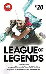 League of Legends €20 Gift Card   Riot Points   VALORANT Points