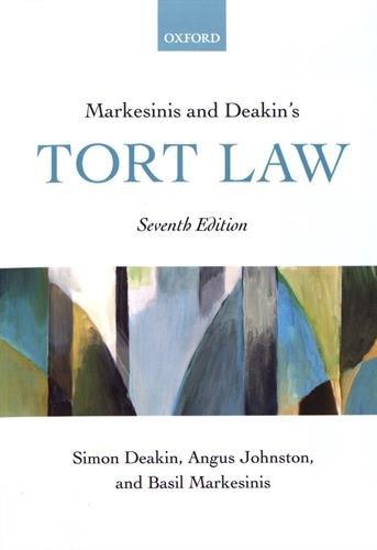 Markesinis and Deakin's Tort Law