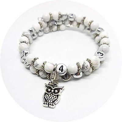 Bracelet d'allaitement perles howlite blanche/grossesse, allaitement, cadeau naissance