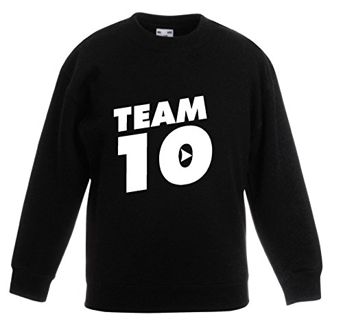 super popular 9c66b 32ea3 Juicy T s Team 10 Top Youtube Jake Paul Kids Sweatshirt Jumper - Black ...