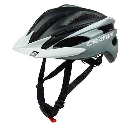 Preisvergleich Produktbild Fahrradhelm Cratoni Pacer,  black-silver matt - Visier weiß,  Gr. L-XL (58-62 cm)