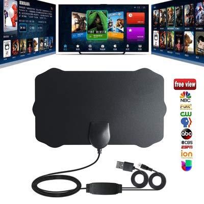 CRZJ TV Antenne HD, Ultradünne Digital-TV-Antenne für Innen Die Gesamtlänge des Kabels beträgt 3 Meter. HD-Video unterstützen