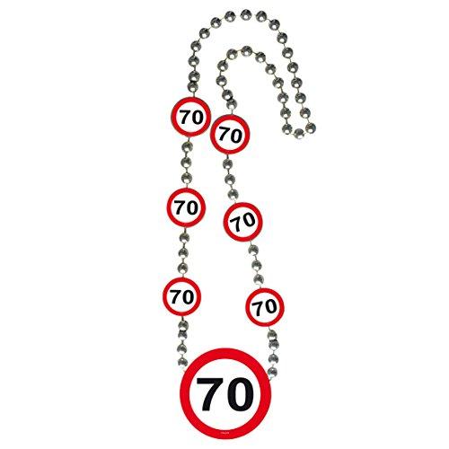 Folat Verkehrsschild Geburtstag Halskette of Honor–70. Geburtstag