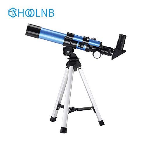 HOOLNB Anfänger Sternenteleskop 20X / 32X mit Compact Stativ Kompass für Weltraumbeobachtung Zusehen Mond-Stern -