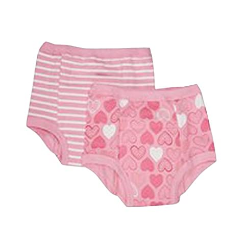 Green sprouts Reusable Organic Training Pants (36 Months, Pink Heart, Pack of 2)
