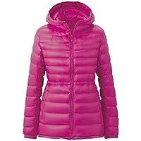 2e02c5913aca YYF Women s Lightweight Packable Thin Short Down Hooded Jacket Waist Zip Up  Down Coat