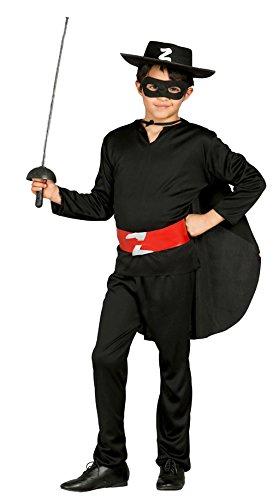 Guirca- costume da zorro 10/12 anni maschio, 10-12, 78703