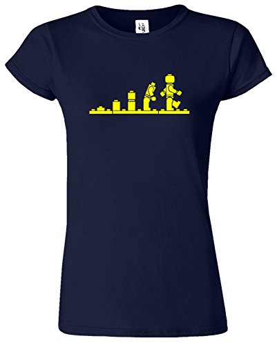 LEGO Evolution Dames T-shirt Soldat Conception Guerres Retro Bleu Marine