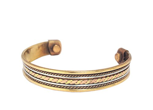 Discount4Product Multi-Colour Copper With Magnet Kada Unisex Bracelet