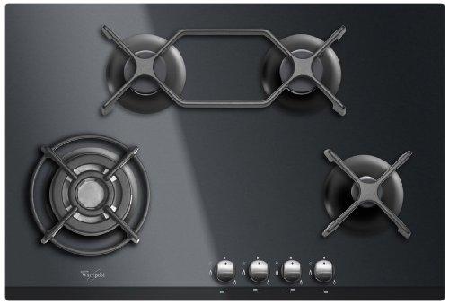 Whirlpool AKT 476 NB Plaque de Cuisson Gaz Intégrable 75 cm Noir