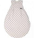 Alvi 42389 924-9 Baby Mäxchen Außensack Gr. 68/74cm Dots weiß