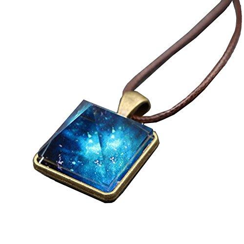 Pyramide Anhänger Halskette Charme Leuchtende Legierung Kristall Stein Fluoreszierende grüne Glühen in der Dunkelheit Geschenk für gilrs Frau (Grün, Halsketten Glühen)