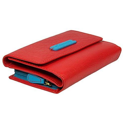 Chiemsee Leo portafoglio pelle 14,7 cm red light blue