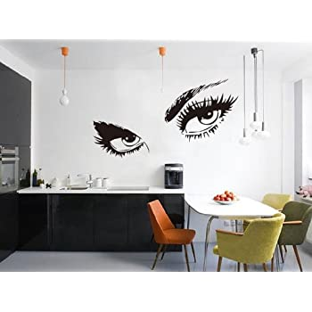 Restly Hepburn Black Sexy Eyes Wall Stickers Decor Living Room Wallpaper Bedroom  Wall Stickers Decor Part 72