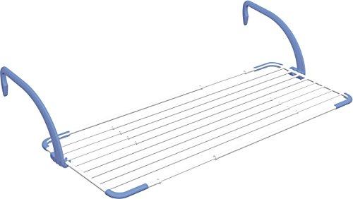 Gimi brezza extend stendibiancheria da balcone, stendino estensibile, da esterno, spazio stenditura 20 m, in acciaio e resina, 192 x 55 x 30 cm