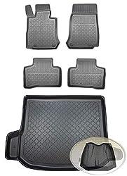 ZentimeX Z392846 Set Kofferraumwanne Gummifußmatten + Klettnetztasche (Laderaumwanne, Kofferraummatte, Automatten)