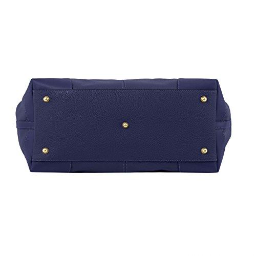 Tuscany Leather Ambrosia - Borsa in pelle morbida con tracolla - TL141516 (Blu scuro) Blu scuro