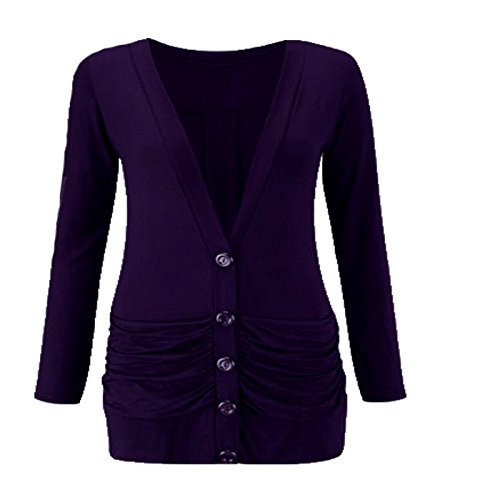 RIDDLEDWITHSTYLE -  Maglia a manica lunga  - Donna Purple