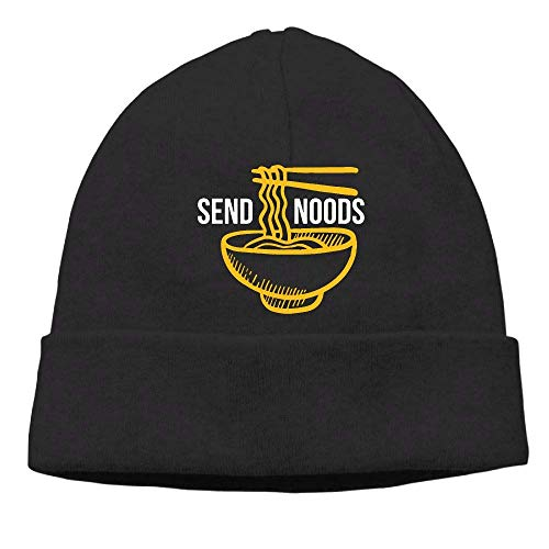 DHNKW Pho Ramen Soup Noodle Skull Cap Beanie That Will Fit Your Head Per Chunky Knit Visor Beanie