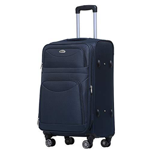 BEIBYE BEIBYE 8009 TSA Schloß Stoff Trolley Reisekoffer Koffer Kofferset Gepäckset (Blau, M)
