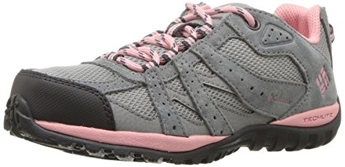 Columbia Youth Redmond, Chaussures Multisport Outdoor Fille, Gris (Steam, Pink Rosewater), 38 EU