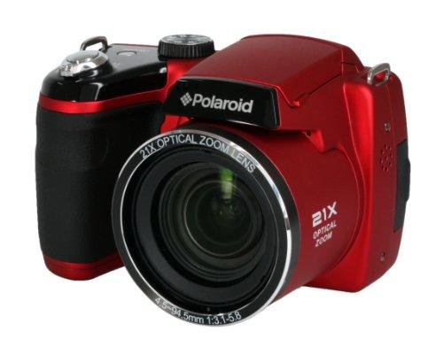 Polaroid HD Digital Camera - Red (16MP, 21x Optical Zoom, 4x Digital Zoom, SD Card Slot) 3 inch LCD