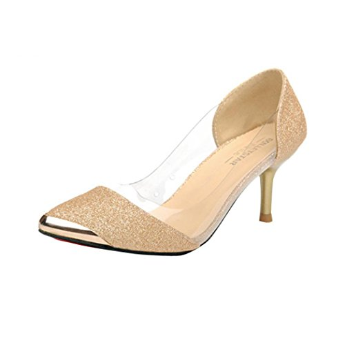 Transer® Damen Flach Mokassins Frühling/Herbst Casual Schuh Sandelholz Slipper( Bitte achten Sie auf die Größentabelle. Bitte eine Nummer größer bestellen. Vielen Dank!) Gold