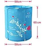 WCUI Pliegue más grueso plástico stent Baño Barriles Bañera Familia Niño Bañera Adulto Bañera Seleccionar ( Tamaño : 58*65CM )